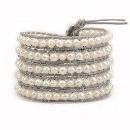 Freshwater Pearls on Gray   Victoria Emerson