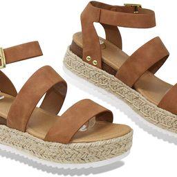 MVE Shoes ~ Bryce Womens Stylish Comfortable Platform Strappy Espadrille Flatforms   Amazon (US)