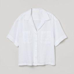Linen resort shirt   H&M (UK, IE, MY, IN, SG, PH, TW, HK, KR)