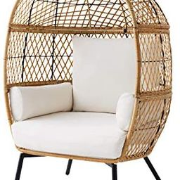Better Homes & Gardens Ventura Stationary Outdoor Egg Chair (Natural)   Amazon (US)