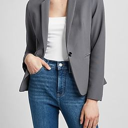 Supersoft Twill One Button Blazer | Express