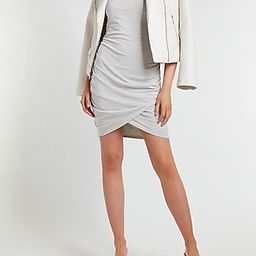Silky Sueded Jersey Ruched T-Shirt Dress | Express