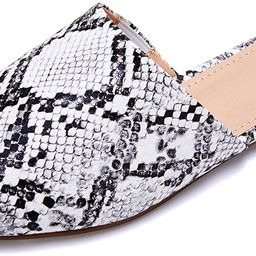 Ruanyu Womens Backless Mules Sandals Flat Pointed Toe Slip On Studded Tassel Comfortable Penny Lo... | Amazon (US)