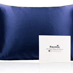 Ravmix Silk Pillowcase for Hair and Skin, 100% 21Momme, with Hidden Zipper, Both Sides Mulberry S...   Amazon (US)