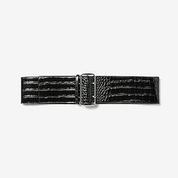 Crocodile Textured Wide Double Prong Belt | Express