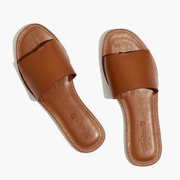 The Boardwalk Post Slide Sandal in Leather   Madewell