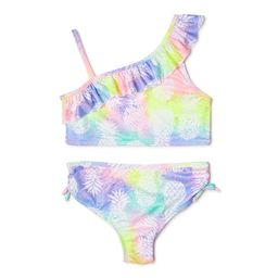 Pink Platinum Girls Pineapple Tie Dye Two-Piece Swimsuit, Sizes 4-16 | Walmart (US)