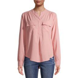 Time and Tru Women's Long Sleeve Utility Shirt | Walmart (US)