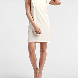 Ruffle Taffeta Sleeve Shift Dress | Express