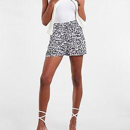 High Waisted Soft Printed Drawstring Shorts | Express
