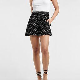 High Waisted Polka Dot Pull-On Shorts | Express