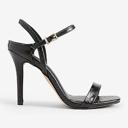Textured Low Back Heeled Sandals | Express