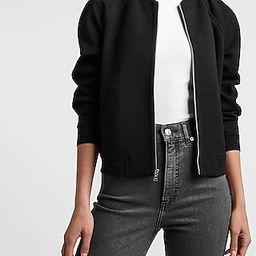 Collarless Zip-Up Knit Jacket | Express