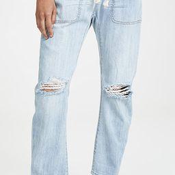 Shabbies Drawstring Boyfriend Jeans   Shopbop