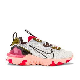 Nike NSW React Vision Sneaker in Summit White & Sunset Pulse from Revolve.com   Revolve Clothing (Global)