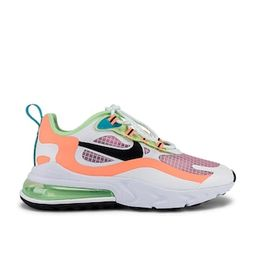 Nike Air Max 270 React SE Sneaker in Light Artic Pink, Black Orange, Pulse White, Vapor Green & O...   Revolve Clothing (Global)