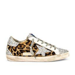 Golden Goose Superstar Calf Hair Sneaker in Silver & Brown Black Leopard from Revolve.com   Revolve Clothing (Global)