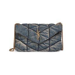 Loulou Matelassé Denim Crossbody Bag | Saks Fifth Avenue