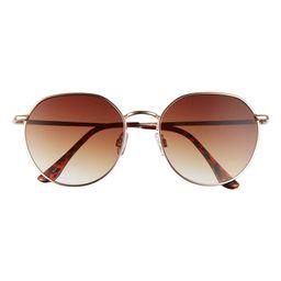 55mm Gradient Round Sunglasses | Nordstrom