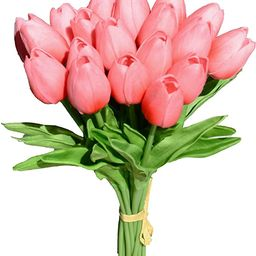 Mandy's 20pcs Blush Artificial Latex Tulips for Party Home Wedding Decoration | Amazon (US)