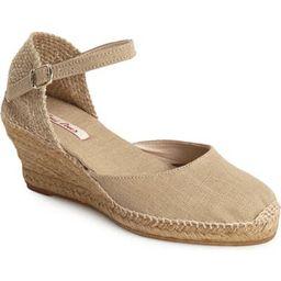 'Caldes' Linen Wedge Sandal | Nordstrom