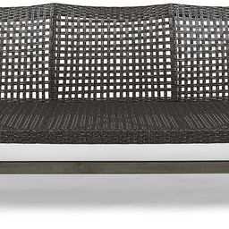 Great Deal Furniture Marcia Outdoor Wood and Wicker Sofa, Light Gray Finish with Mix Black Wicker   Amazon (US)