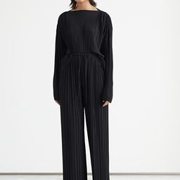 Relaxed Plissé Drawstring Trousers | & Other Stories