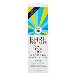 Bare Republic Mineral Face Sunscreen Lotion - SPF 30 - 1.7 fl oz   Target