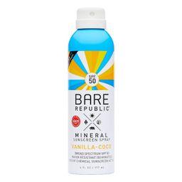 Bare Republic Mineral Sunscreen Vanilla Coco Spray SPF 50 - 6.0 fl oz   Target