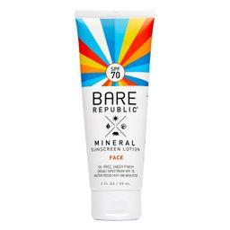 Bare Republic Mineral Face Sunscreen - SPF 70 - 2 fl oz   Target