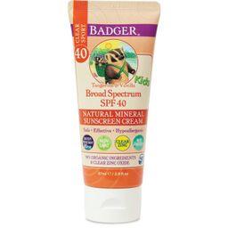 Badger Mineral Kids Sunscreen Cream - SPF 40 - 2.9 fl.oz   Target