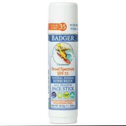 Badger Sport Mineral Sunscreen Face Stick - SPF 35 - 0.65oz   Target