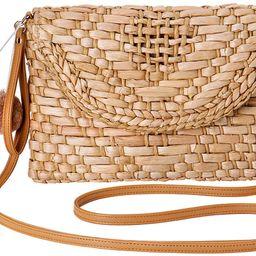 Straw Shoulder Bag, Kadell Straw Clutch Women Handmade Straw Crossbody Bag Summer Beach Envelope ...   Amazon (US)