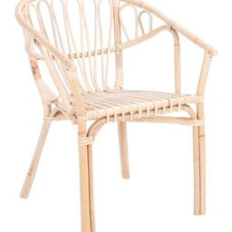Tan & White Finish Spirea Rattan Dining Chair   Zulily