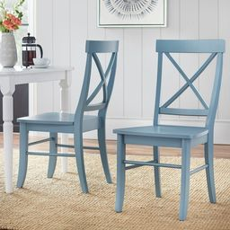 Simple Living Albury Dining Chairs (Set of 2) - Blue   Overstock