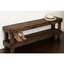 The Gray Barn Graceland Rustic Farmhouse Wooden Bench Seat | Overstock