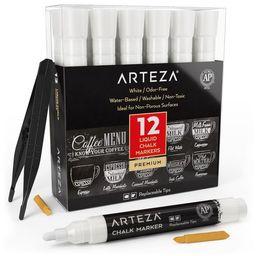Arteza Liquid Chalk Markers, White, Set of 12 | Target
