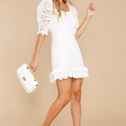 A Burning Question White Lace Dress | Red Dress