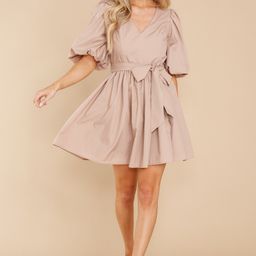 Our Agreement Taupe Dress | Red Dress