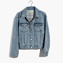 The Boxy-Crop Jean Jacket in Fitzgerald Wash   Madewell