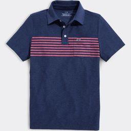 vineyard vines Boys' Polo Shirts 4118 - Vineyard Navy Seabreeze Stripe Edgartown Polo - Toddler | Zulily