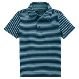 vineyard vines Boys' Polo Shirts 0397 - Marina Heather Mini-Stripe Nantz Polo - Boys | Zulily