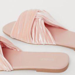 Velour Slides | H&M (US)