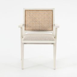 Annette Cream Upholstered Cane Dining Chair   Crate and Barrel   Crate & Barrel