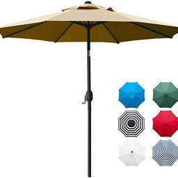 Sunnyglade 9' Patio Umbrella Outdoor Table Umbrella with 8 Sturdy Ribs (Tan)   Amazon (US)