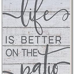 """Kindred Hearts Life is Better Patio Indoor/Outdoor Sign, 11"""" x 20"""", Multicolor   Amazon (US)"""