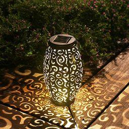 Esgarden Solar Light Outdoor Hanging Solar Lantern Garden Outdoor Solar Light with Handle Retro M...   Amazon (US)