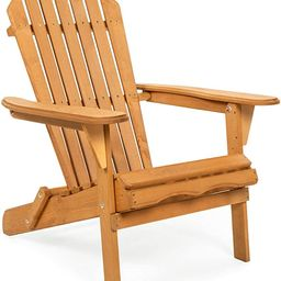 Best Choice Products Folding Wooden Adirondack Lounger Chair Accent Furniture w/Natural Finish, B...   Amazon (US)