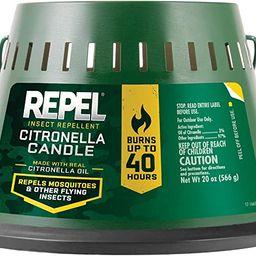 Repel Insect Repellent Citronella Candle, Triple Wick, 20-Ounce   Amazon (US)