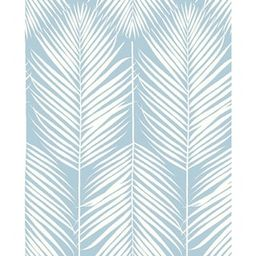NextWall Palm Silhouette Hampton Blue Coastal 20.5 in. x 18 ft. Peel and Stick Wallpaper-NW39812 ...   The Home Depot